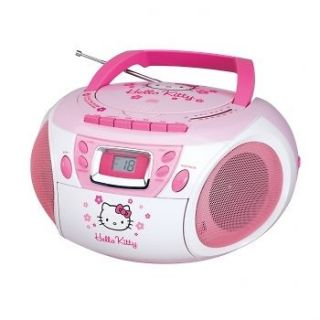 HELLO KITTY STEREO CD PLAYER BBOOMBOX w/ CASSETTE RECORDER KT2028A NEW