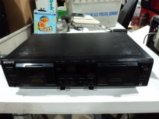 SONY TC WE435 DUAL CASSETTE DECK PARTS/REPAIR