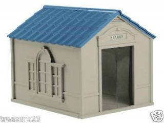 Durable Resin All Weather X Large Outdoor Pet Dog House