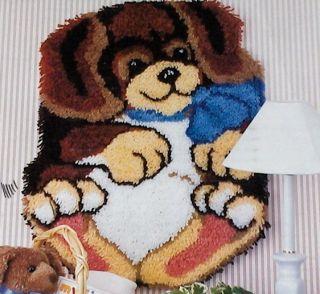 Roly Poly Puppy Dog Latch Hook Kit 20x27