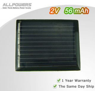 56mA mini solar panel small solar panels charge small motor AA battery