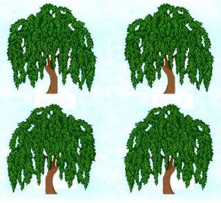 Mrs Grossmans Weeping Willow TREE Scrapbook Stickers