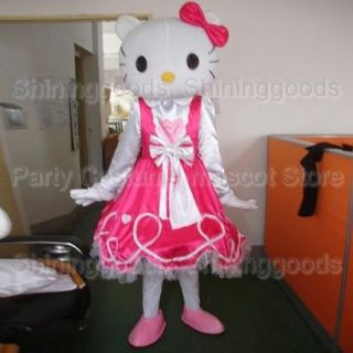 Hello Kitty Costume Mascot Cartoon Clothing Adult Size Party Suit