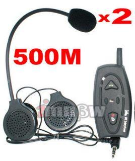 Helmet BT Bluetooth Intercom Interphone Handsfree Speaker 500 Meters