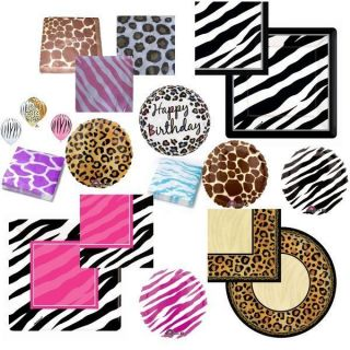 Leopard print party supplies on popscreen for Animal print party decoration ideas