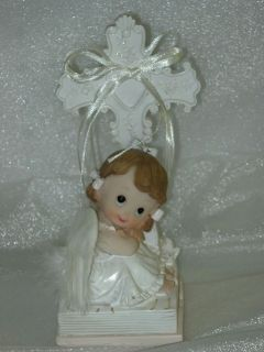 Christening Girl Bautizo Angel Bible Centerpiece 7 H