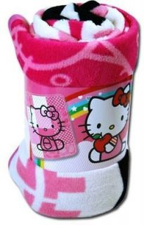 Hello Kitty fleece throw blanket soft New Sanrio 50x60 bedding