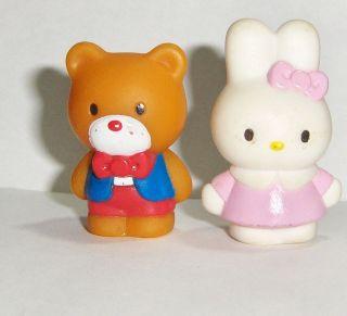Sanrio Hello Kitty Miffy & Teddy Bear Toy PVC Figure Lot Pencil Cake