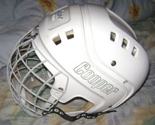 COOPER SK 600 WHITE HOCKEY HELMET HURLING VL50 CAGE LARGE ADULT SIZE
