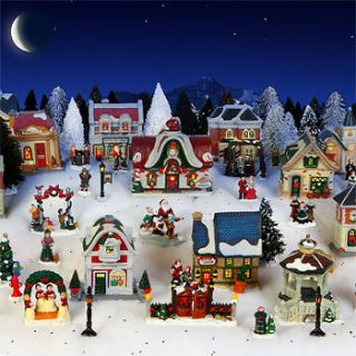 Cobblestone Corners 2012 Christmas Village 62 Piece Collection