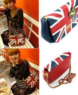 New Fashion Korea With UK Flag Union Jack Badge Chain Shoulder Bag