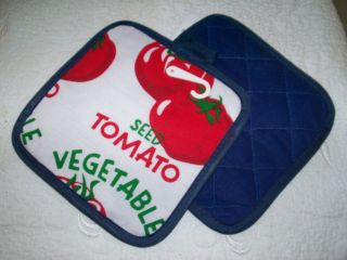 KITCHEN POTHOLDERS NORTHPOINT HOME * Tomato Vegetable * Special Deal