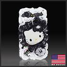 Hello Kitty Black Ice Cream cake case cover HTC Droid Incredible 2