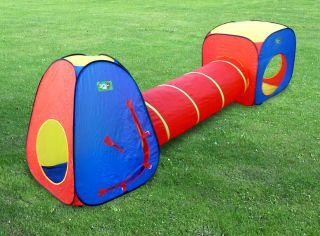 NEW Kids Play Indoor/Outdoor Tunnel Tent Play House Set Childs