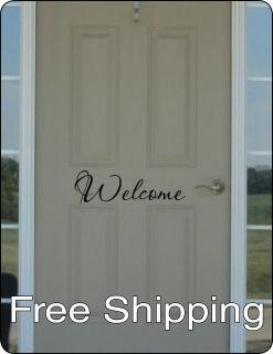 WELCOME wall vinyl sticker home decor front door art friend house FREE