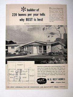 WG Best Homes Bestview Model Prefab Factory House 1959 print Ad