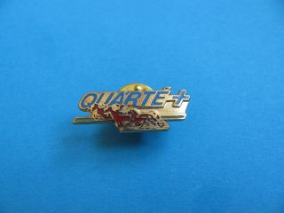 Quarte + Pin Badge. Horse Racing, Jumping, Sulky trotting. VGC. Hard