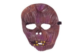 Brown Purple Monkey Ape Scary Halloween Mask Costume Accessory Boys