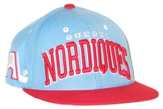 QUEBEC NORDIQUES NHL HOCKEY VINTAGE LIGHT BLUE SUPERSTAR SNAPBACK HAT