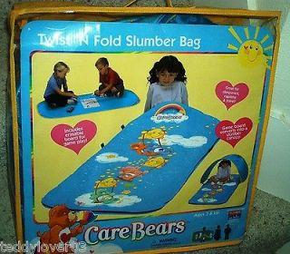 Care Bears TWIST N FOLD SLEEPING BAG w/ Erasable Game Board & More