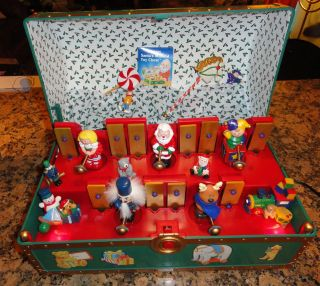 Mr Christmas Animated Lighted Santas Musical Toy Chest 35 Songs VGC