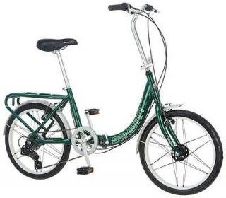 Schwinn 20 Inch Loop Folding 7 Speed Bike Forest Green Model# S2280A