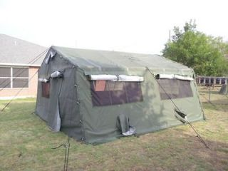 Newly listed 16 X 16 US MILITARY TENT   COMPLETE   FRAME AND SKIN