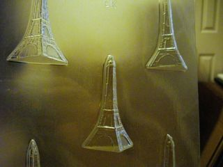 2PC 3D EIFFEL TOWER CHOCOLATE CANDY SOAP MOLD MOLDS