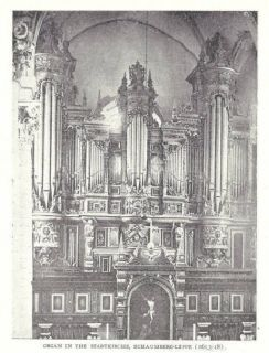 1904 Antique Magazine Article, CHURCH ORGANS. Organ. 15 illustrations