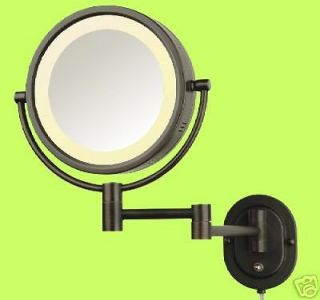 Hardwire Lighted 5X Makeup Mirror In BRONZE For Make Up Free Extra