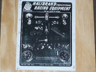 the 1964 halibrand catalogue vintage sprint car usac midget indy car