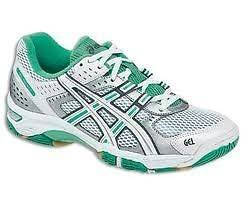 Asics Gel Rocket 5 Womans Volleyball Shoes White/Teal/Silver B053N