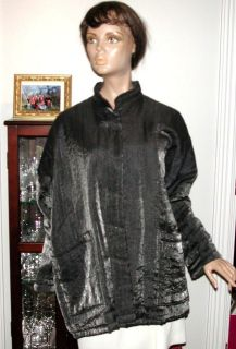 ANIMALE   Shiny charcoal insulated jacket coat   Sz L