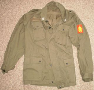 Used Italian Italy Army Military Esercito Uniform Jacket with Patch