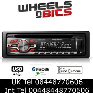 Cheap bluetooth car Stereo with USB iPod iPhone Audio Stream Pioneer