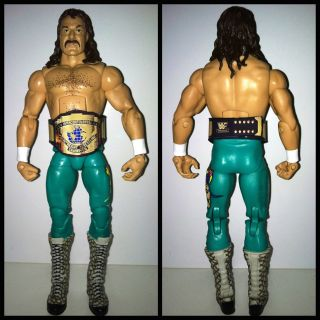 Jake the Snake Custom IC belt Wrestling Action Figure WWF Lot MINT