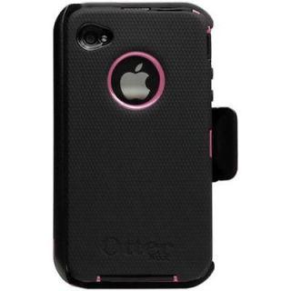 OTTERBOX iPhone 4 Defender Pink/Black Case + Belt Clip