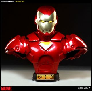 Marvel Invincible Iron Man Comic Version 11 Life Size Bust NEW SEALED