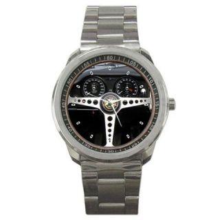 1961 Jaguar E Type Series 1 Steering Wheel Sport Metal Watch Rare