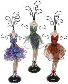NEW Jewellery Mannequin Display Stand Green Purple Summer Chiffon