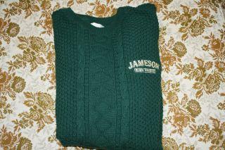 RARE Womens Jameson Irish Whiskey Wool Sweater Size XL So Comfy