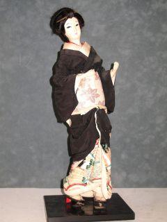 Vintage beautiful 1950s Japanese Geisha Doll Nishi Human Hair Kimono
