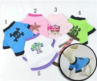 Wholesale dog clothes for small dogs Printed dog t shirts Pet Clothing