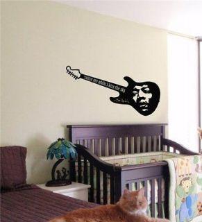 Jimi Hendrix Guitar Wall Art Sticker Nursery 15