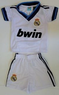 REAL MADRID TEAM CHILDRENS SOCCER JERSEY AND SHORT KIDS YOUTH SIZES