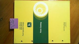 John Deere Roto Diesel Fuel Injection Pumps Parts Catalog Manual PC