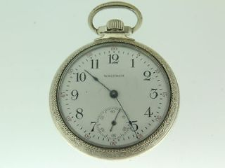 Waltham 17 jewels Heavy Star Case Pocket Watch ( Runs )