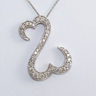 jane seymour open heart necklace white gold