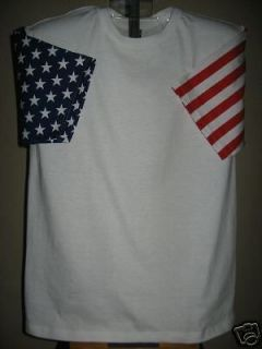 American Flag USA Stars + Stripes T Shirt Tee Unisex L