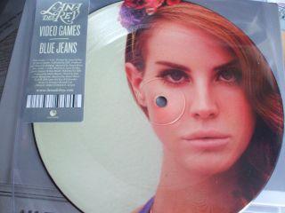 LANA DEL RAY REY VIDEO GAMES / BLUE JEANS 7 VINYL PIC DISC